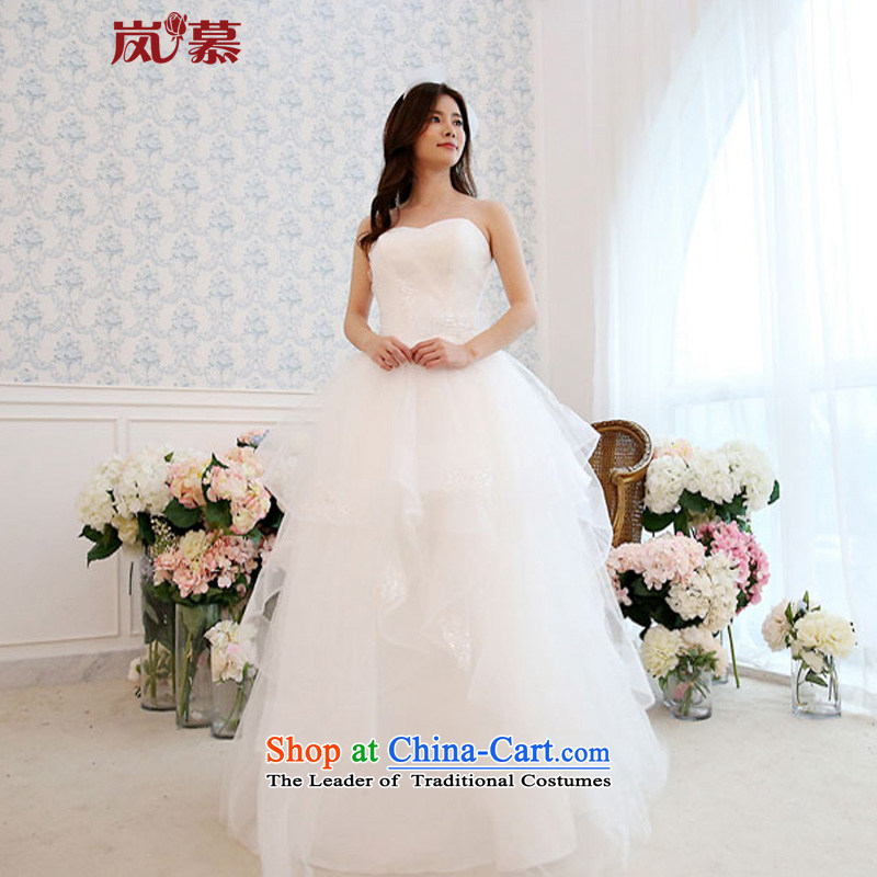 The sponsors of the?2015 original design new wrapped to align the chest decals bon bon skirt bride wedding out of pure white?L 90 / 74) waist chest
