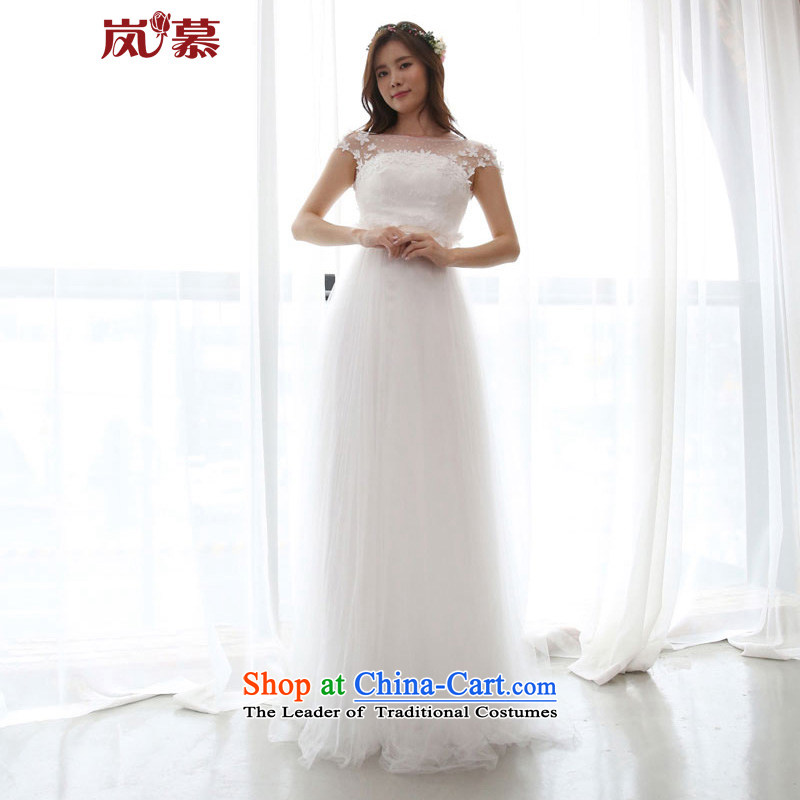 The sponsors of the original design of the new Korean word shoulder bags shoulder style small A swing of the Sau San skirt bride wedding pure white?L 90 _ 74_ waist chest