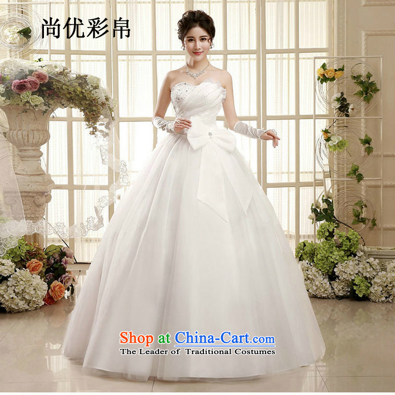 There is also optimized 8D wedding dresses spring new Korean wiping the chest to align marriages princess minimalist straps, wedding photo color xs1003 S