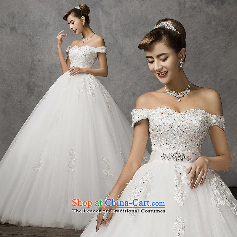 El drunken American wedding dresses yi new summer, the Word 2015 bride your shoulders to romantic wedding retro lace diamond luxury bride wedding dresses white?S