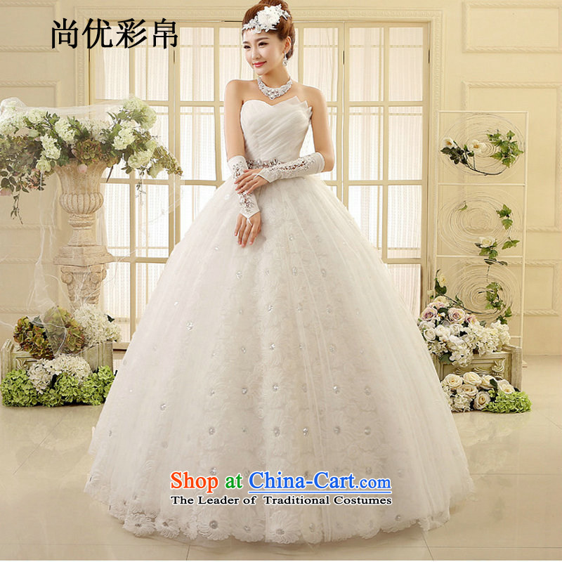 There is also optimized 8D Large stylish wedding new mm thin and thick video chest lace petticoats to align the Sau San wedding xs1015 m White�XL