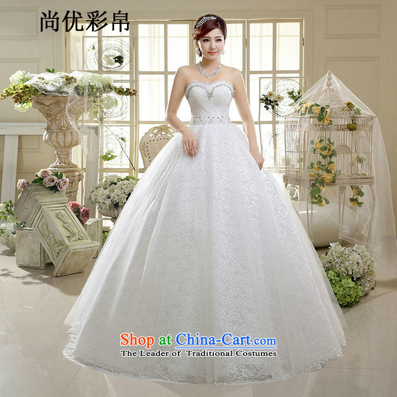 There is also a grand new optimize lace diamond wedding wiping the chest to sweet bon bon skirt on chip lace wedding xs1016 m White�XXL