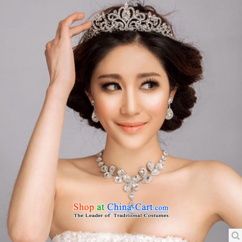 El drunken Yi Mei wedding accessories accessories on the chant. 2015 New Head Ornaments marriage wedding accessories bridal jewelry sets crown earring kits crown earrings Necklace