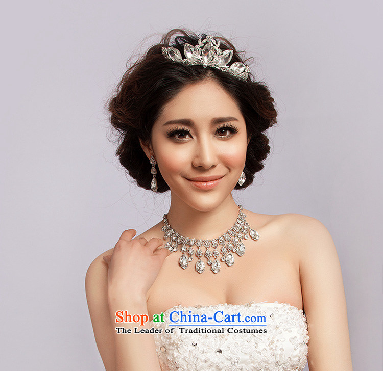 El drunken Yi Mei marriages jewelry Korean style kit crown headdress marriage water Drill Sets link bridal accessories hair accessories photo building three piece crown necklace earrings three piece crown earrings necklace picture, prices, brand platters! The elections are supplied in the national character of distribution, so action, buy now enjoy more preferential! As soon as possible.