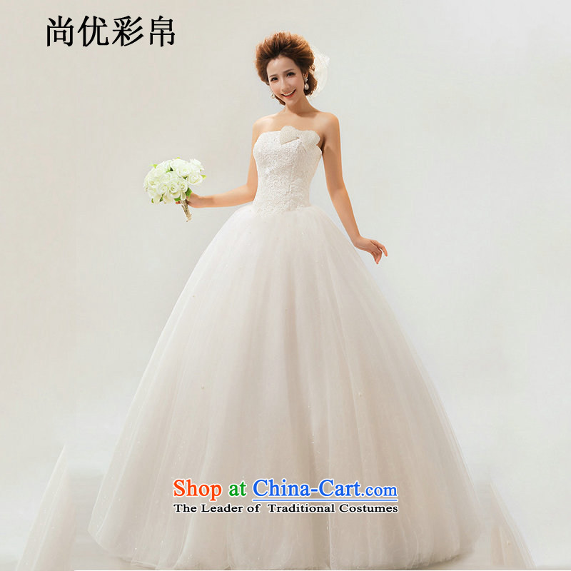 There is also optimized 8D spring and summer wedding dresses new marriages stylish anointed chest lace to align the minimalist Korean skirt female xs1025 bon bon m White聽XL