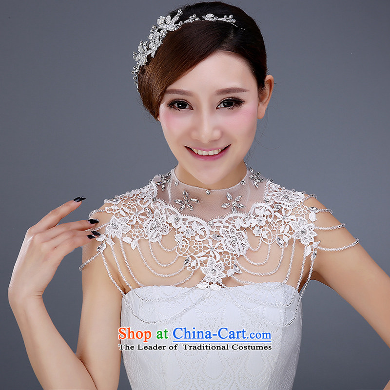 Wedding dress accessories bride Head Ornaments ornaments wedding Korean-style water drilling hair accessories wedding dress was adorned with shoulder chain link shoulder
