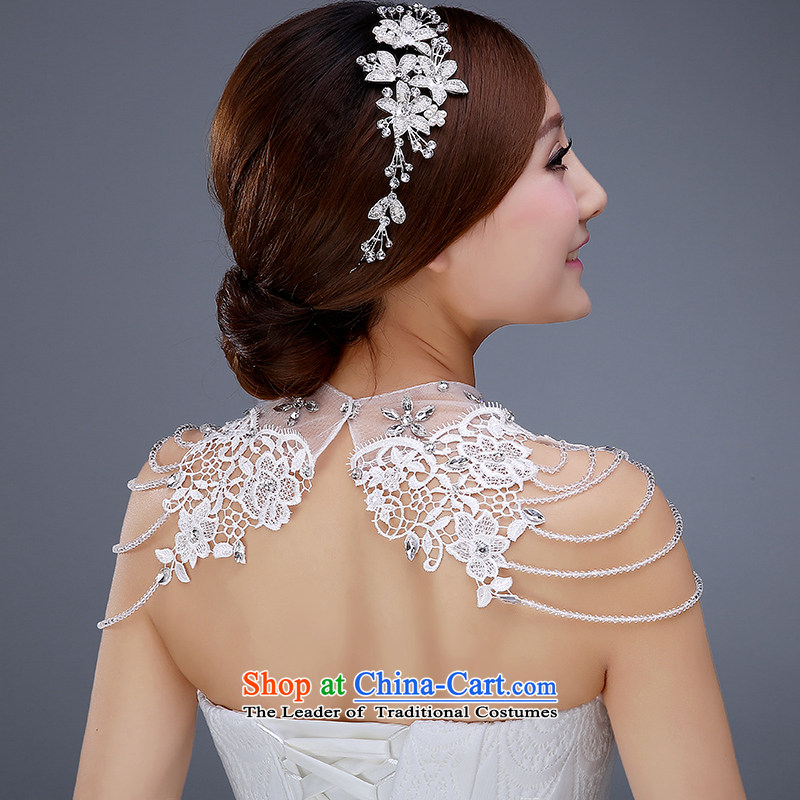 Wedding dress accessories bride head ornaments ornaments wedding wedding dress accessories bride head ornaments ornaments wedding korean style water drilling hair accessories wedding dress was adorned with shoulder chain junglespirit Image collections
