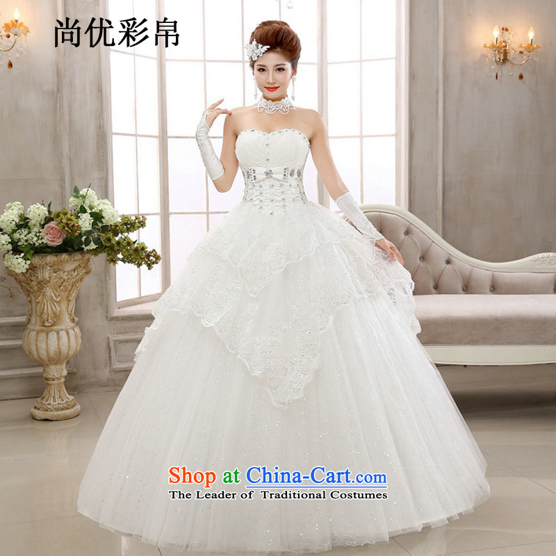 There is also optimized 8Manually customised cake layer petticoats alignment with chest an elegant and sweet lovely new wedding xs2031 m White?S
