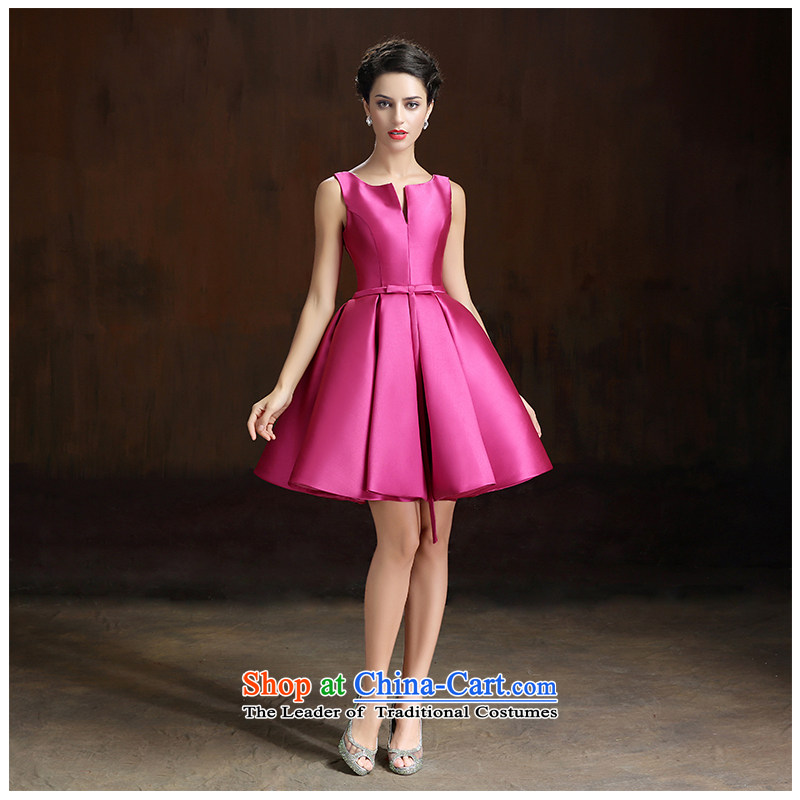 The beauty of the new 2015 shoulder straps bride Sau San large bon bon skirt bride bridesmaid short skirts more colors to improve daily through the two red?S