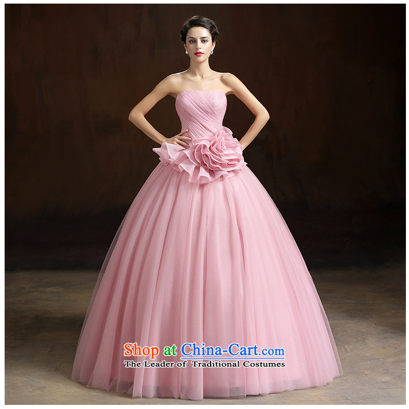 The beauty of the new 2015 anointed chest to align the bride wedding dress A swing colorful and stylish Sau San floor photography video thin minimalist wedding photo numbers which color customizable