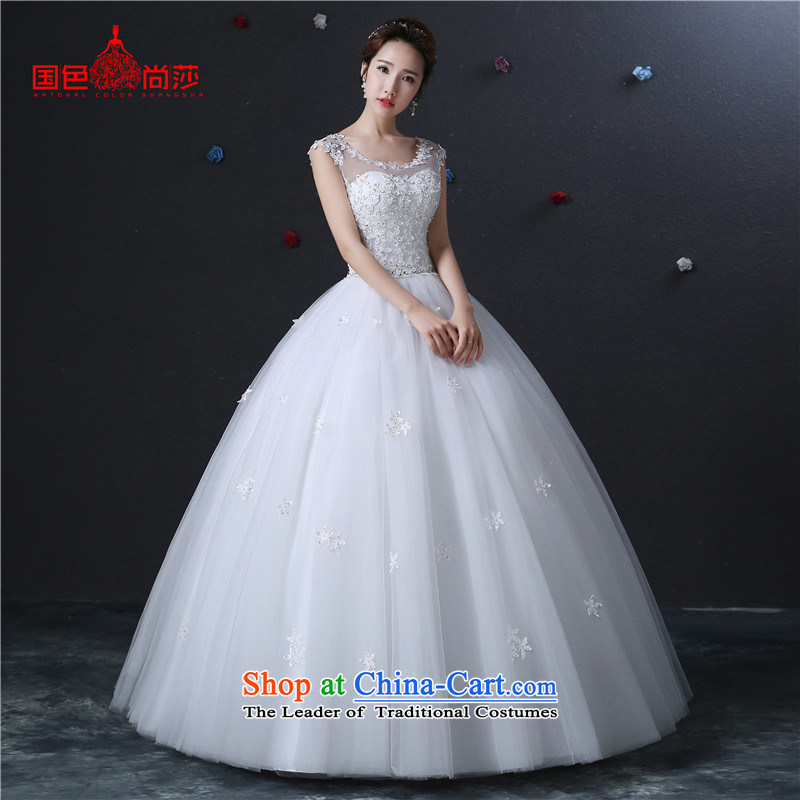 The color is sa?2015 new autumn and winter lace shoulders wedding to align the simple word graphics thin shoulders bride wedding dresses and white high-end up doing pro-contact customer care MM