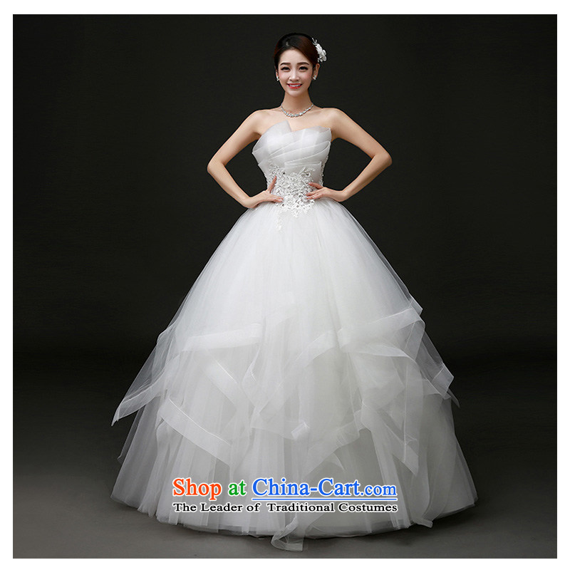 The beauty of the new tissue chest to wedding 2015 stylish and simple an irregular heart-collar straps bon bon skirt bride wedding dresses and the Factory Outlets white customizable