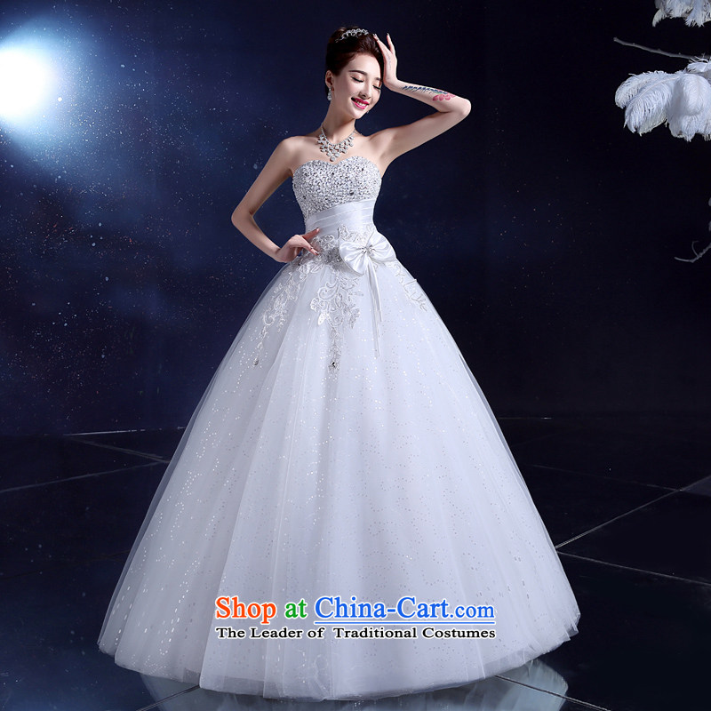 The privilege of serving-leung wedding dresses 2015 lace white breast tissue with new summer marriages to align the Sau San White?XXL