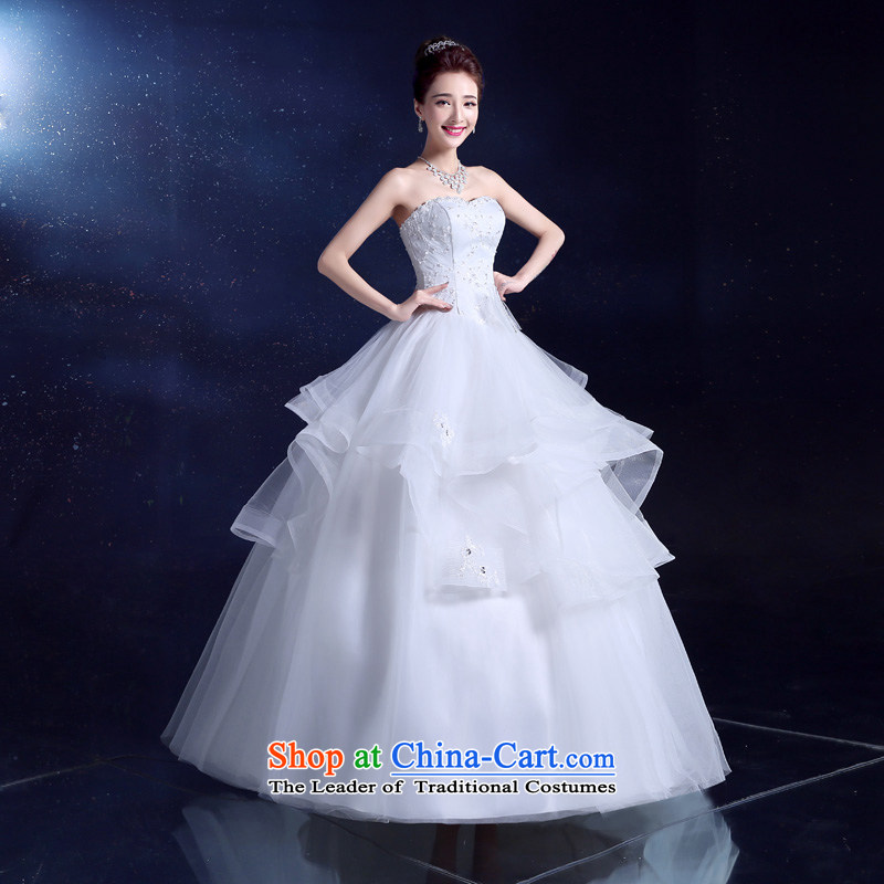 The privilege of serving the bride-leung wedding dresses 2015 New Sau San Bow Tie diamond bon bon yarn princess skirt to align the White XL, a service skirt-leung , , , shopping on the Internet