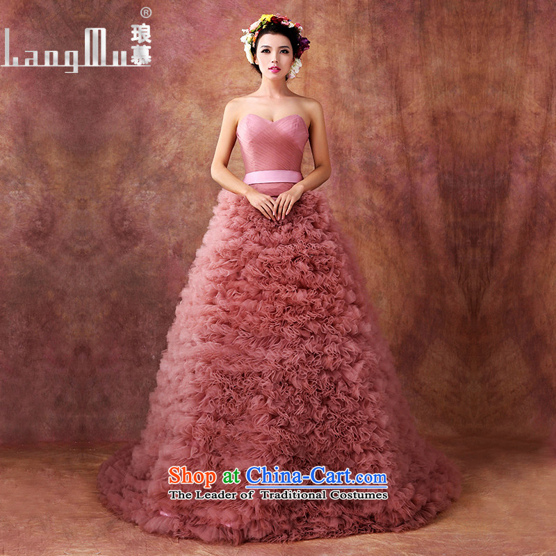 The?new 2015 Luang stylish wedding dresses large graphics thin Baihua anointed chest princess wedding canopy of pregnant women required quality custom usual zongzi RED?M