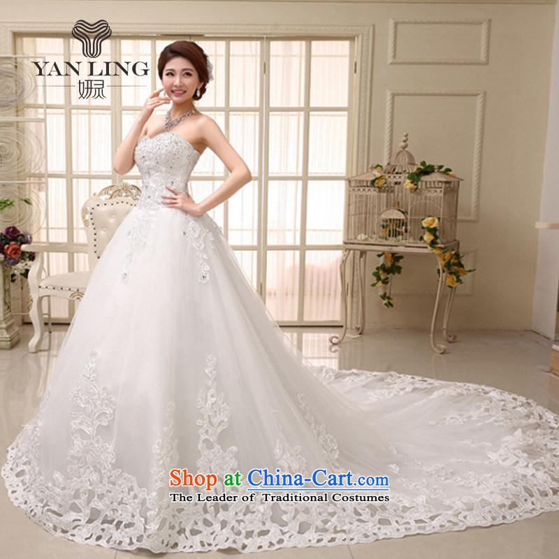 2015 bride wedding dresses�2014 new Korean sweet to align the princess elegant wedding HS531 tail skirt�M