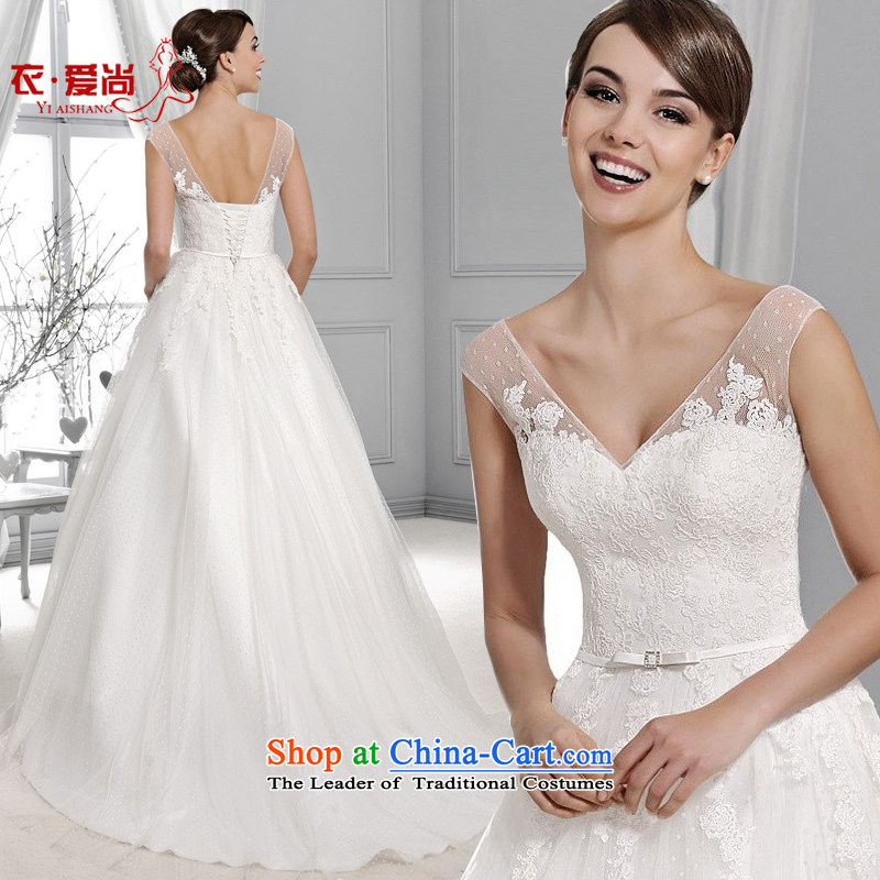 Wedding dresses 2015 Summer new Korean to align the shoulder small trailing custom upscale bride video thin wedding dresses white?S