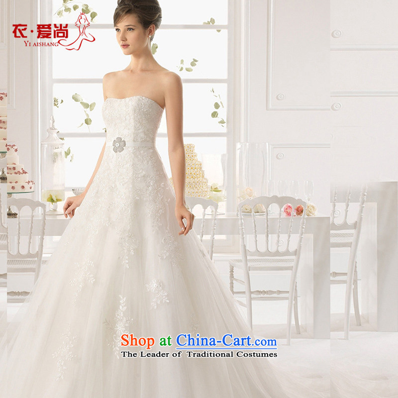 Wedding dress 2015 Spring/Summer new Korean marriages and chest code to align the upscale tail lace graphics can be made of thin white plus $30 Does Not Return
