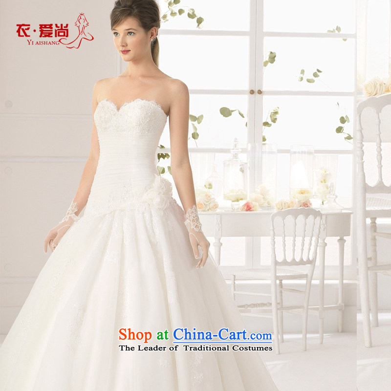 2015 Spring/Summer new marriage wedding dresses western bridal video thin small tail and cultivating the chest to align the lace white can be made, plus $30 Does Not Return
