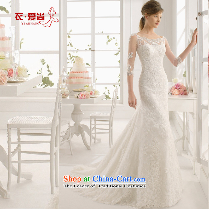 Marriage wedding dresses 2015 new spring and summer brides shoulders upscale lace princess graphics large thin tail alignment can be made to the white plus _30 Does Not Return
