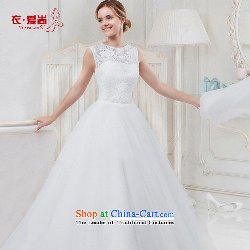 Wedding dresses Summer 2015 new products and stylish word bride shoulder to align the simple small trailing) wedding dresses female white?S