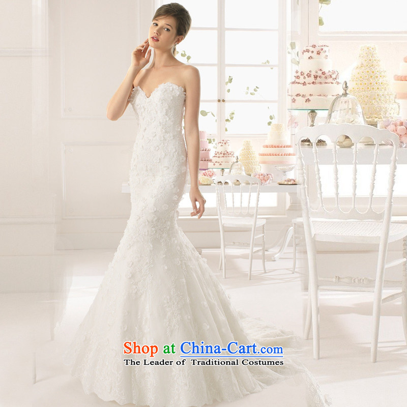 Yi is the spring and summer of 2015, love the new Marriage wedding dresses and sexy lace anointed chest wedding custom high video thin large tail and Sau San chest lace crowsfoot_ female white can be made plus _30 Does Not Return