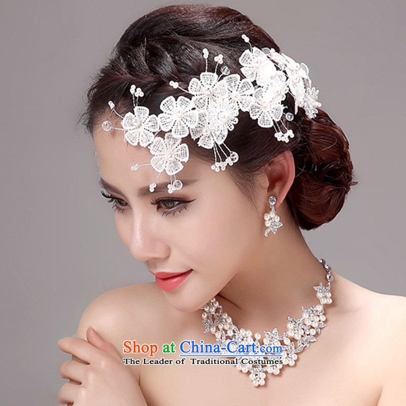 Ferrara Sin-bride wedding headdress Kit Head Ornaments necklaces earrings kit stylish bride flower arrangements and ornaments