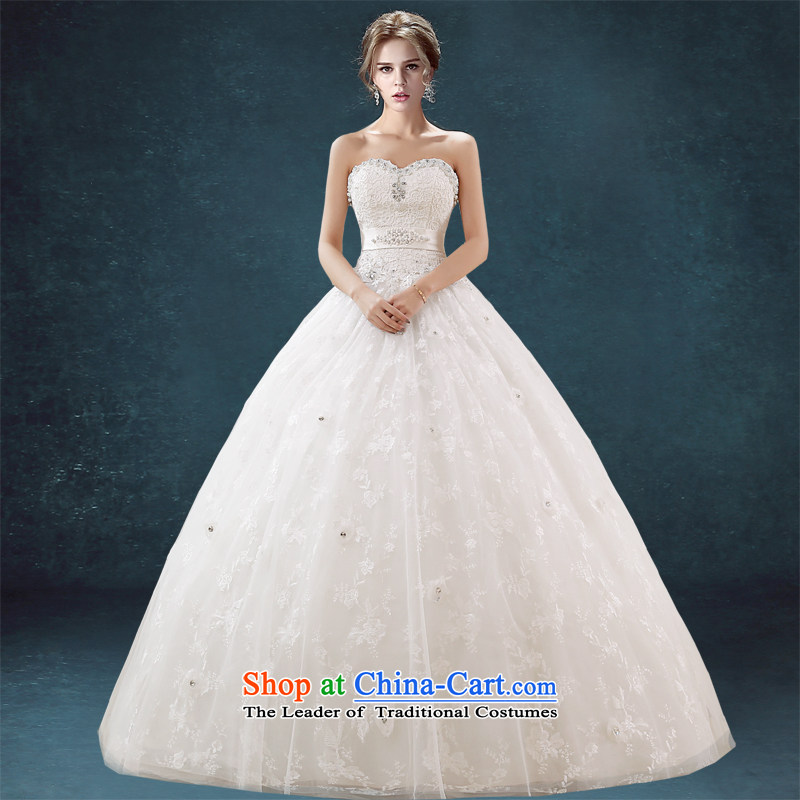 Connie wedding brides every girl, princess wedding continental palace to his chest and large numbers of marriage and chest dress custom skirt white?L
