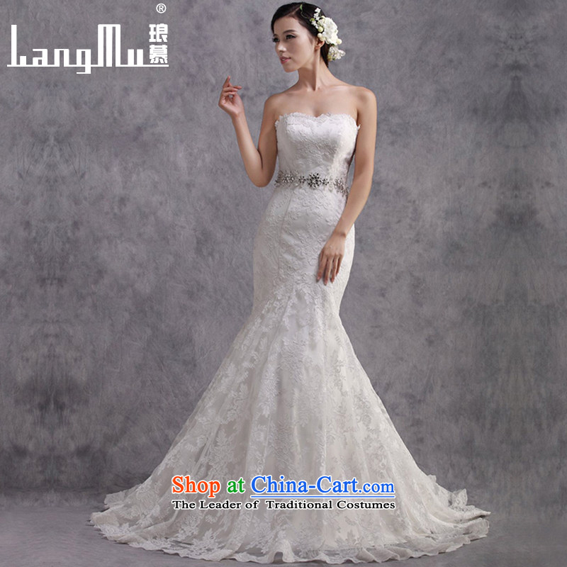 The new 2015 Luang crowsfoot large tail marriages wedding dresses Foutune of Sau San Graphics Customised Thin white�S
