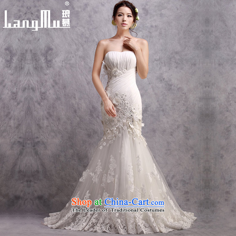 The�new 2015 Luang wedding dresses and chest trendy tail crowsfoot package and wedding sexy beauty video thin custom m White Advanced Customization