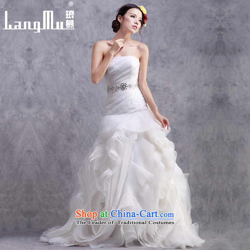 The?new 2015 Luang Korean anointed chest straps bride wedding dresses Sau San video thin crowsfoot wedding customised m White Advanced Customization