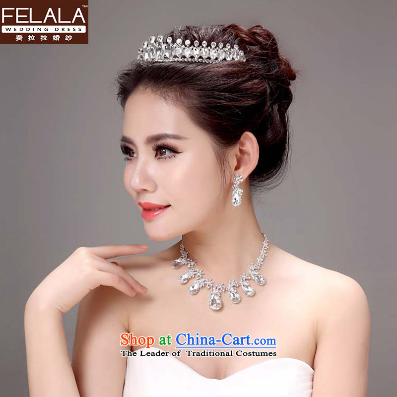 Ferrara Korean style necklace earrings wedding head-dress?ornaments bride 2015 wedding Jewelry marry wedding accessories and ornaments