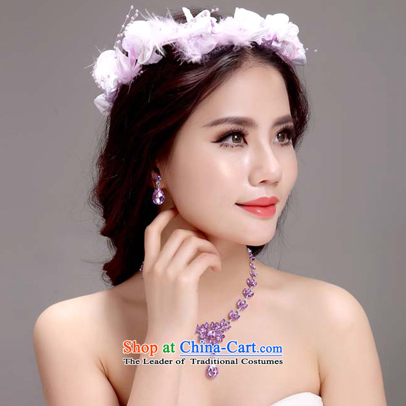 Ferrara Korean pink flower garlands of ring bride bridesmaid wedding photo album headdress head ring hand shore of the camera takes a picture