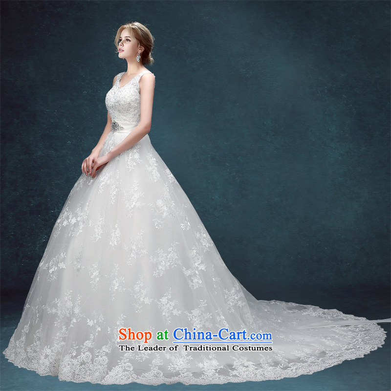 Each wedding to align Connie Wedding 2015 Spring/Summer Ms. new Korean embroidery bride white streaks, shoulders video thin wedding white streak tailored does not allow for seven days of