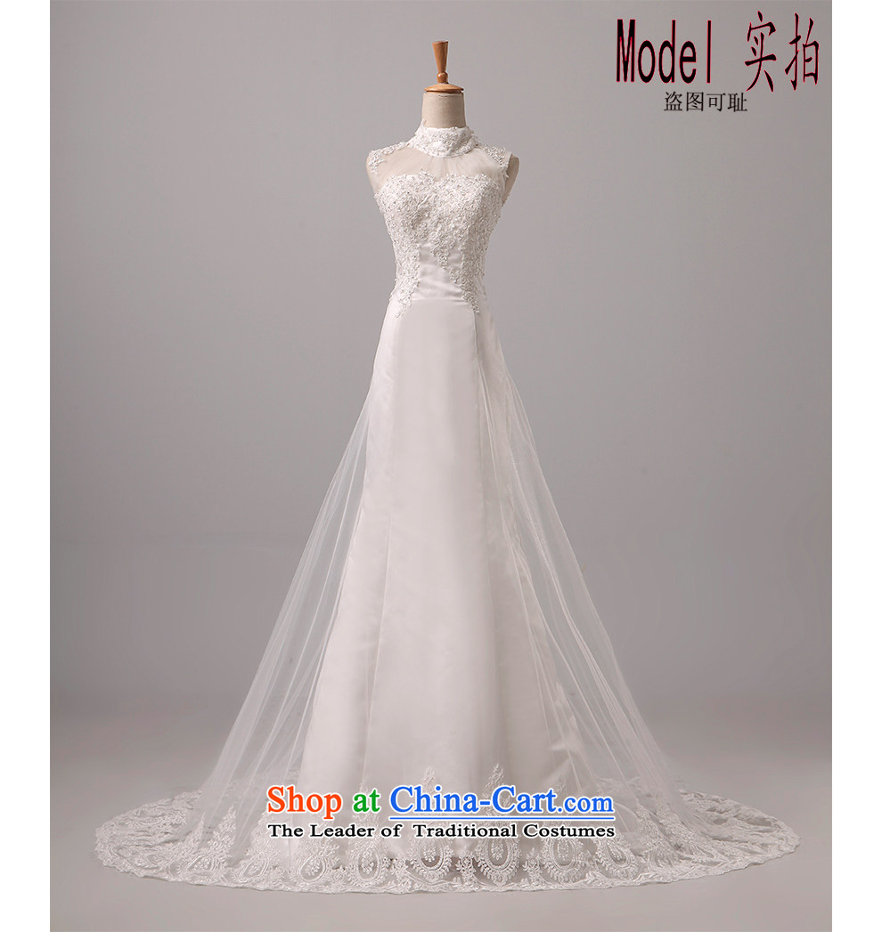 The beautiful bride yarn and small package tail Wedding 2015 new products shoulders back video thin Sau San tie marriages crowsfoot lace wedding code made white L picture, prices, brand platters! The elections are supplied in the national character of distribution, so action, buy now enjoy more preferential! As soon as possible.