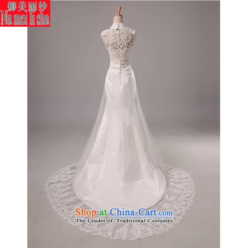 The beautiful bride yarn and small package tail Wedding 2015 new products shoulders back video thin Sau San tie marriages crowsfoot lace wedding code for the beautiful white L, yarn (nameilisha) , , , shopping on the Internet
