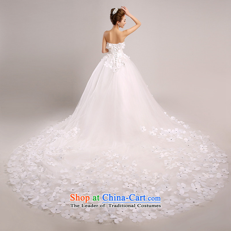 The spring and summer of 2015, the Korean version of the chest, graphics and align the thin to marriages long tail wedding dresses?1.5cm tail?L code?2 feet 1 waist Suzhou Shipment
