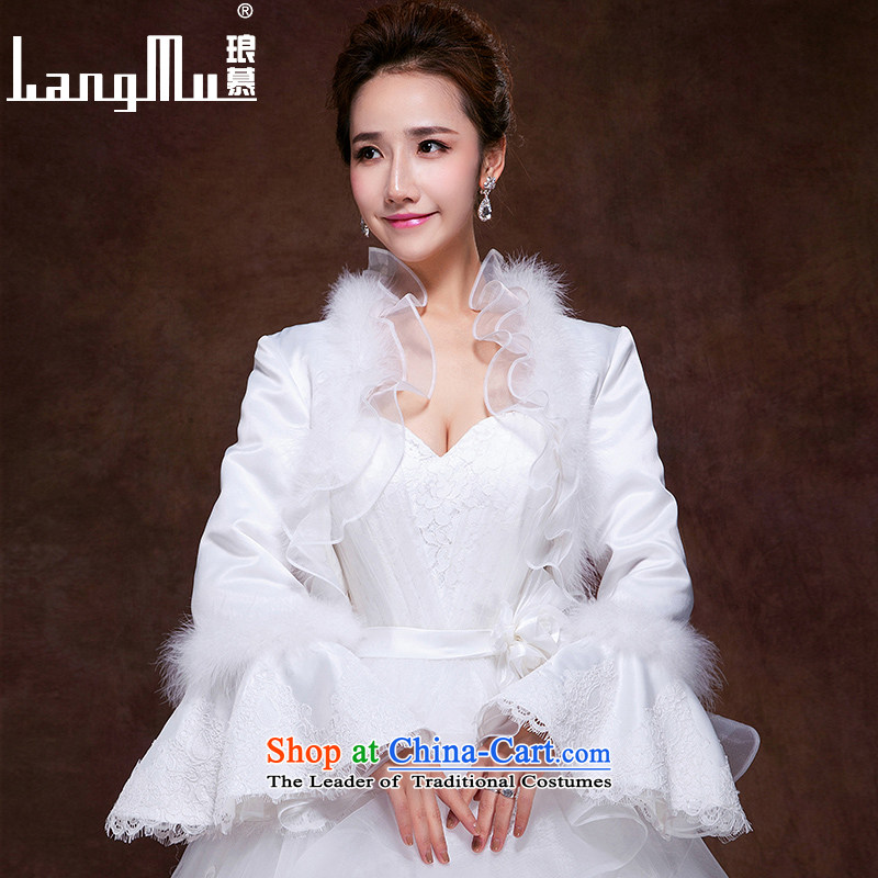 The?new 2015 Luang gross for long-sleeved shawl bride wedding dresses mandatory shawl noble plush leaders shawl m White?M