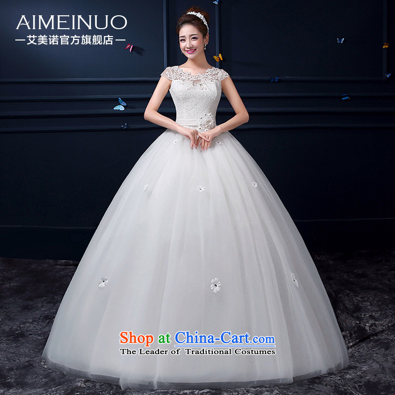 Hiv Miele Wedding 2015 Summer new Korean Sau San gauze lace shoulders princess package and sexy flowers align the shoulder straps to�A15BH93�white�S (�9�) foot waist