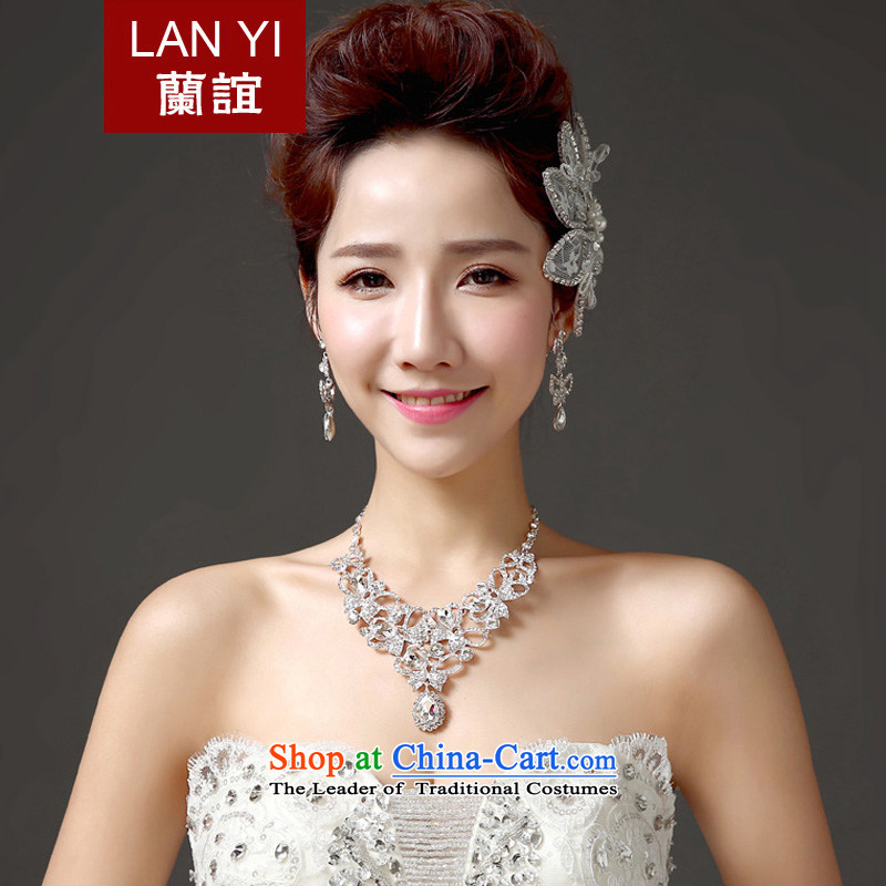 Estimated?2015 bride wedding friends gift clothing accessories for three piece Korean Head Ornaments necklaces earrings marriages accessories accessories Kits