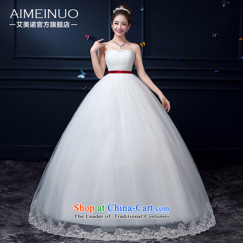 Hiv Miele Wedding 2015 Summer new irrepressible grasp the folds heart-shaped anointed chest lace Korean to align the princess of Sau San聽A15BH96聽white聽S _聽waist a foot 9聽_