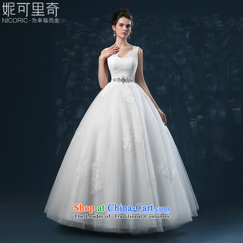 Wedding dress 2015 new bride of autumn and winter lace shoulders wedding on drill straps to align the Sau San wedding white�XXL(3-5 day shipping)