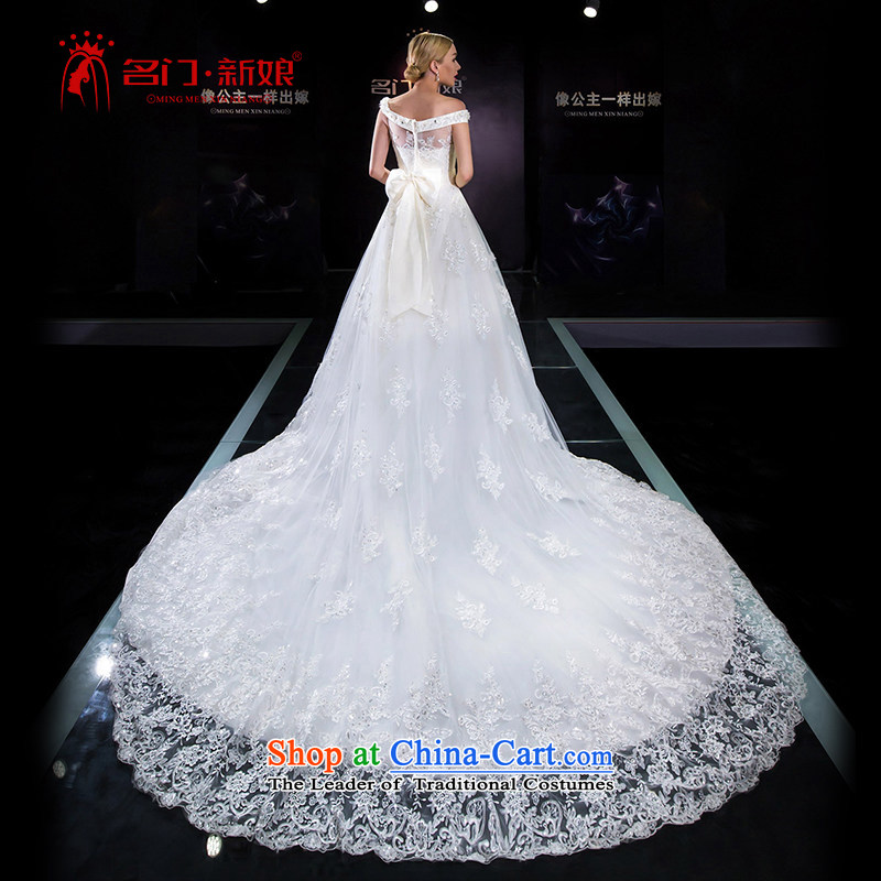 A Bride 2015 Summer Wedding dress the word wedding shoulder tail marriage Wedding 5640 White�M pre-sale 7 Days