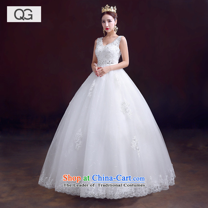 Wedding dress the summer and autumn of 2015 the new bride shoulders to align Top Loin wedding pregnant women wedding video thin winter White?XXL