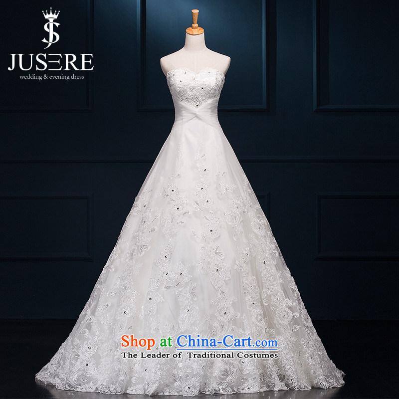 There is located, Cloud lace anointed chest wedding dresses small trailing white?10 yards princess skirt