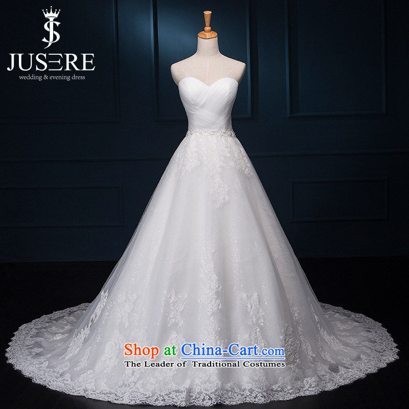 There is simply love wedding dresses Korean lace anointed chest Sau San small trailing white?4 code