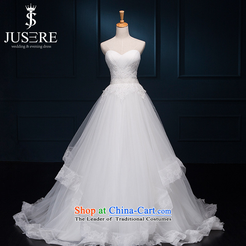 There is set yugiri anointed chest billowy flounces small trailing bride wedding dresses White?6 yards