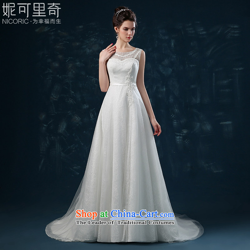 Wedding dress 2015 new autumn and winter stylish lace shoulders bride wedding back strap small tail Sau San wedding female white?XL( Quality Assurance)