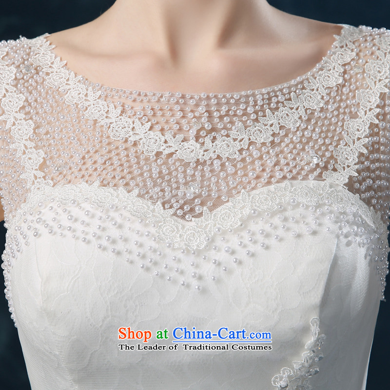 Wedding dress 2015 new autumn and winter stylish lace shoulders bride wedding back strap small tail Sau San wedding female white XL( Quality Assurance), Nicole Kidman (nicole richie) , , , shopping on the Internet
