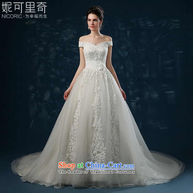 Wedding dress 2015 new autumn and winter and sexy a field with chest wedding shoulder lace straps and slender tail of Sau San Video White?S(3-5 wedding day shipping)